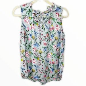 Violet + Claire Ruffle Collar Floral Tank Blouse